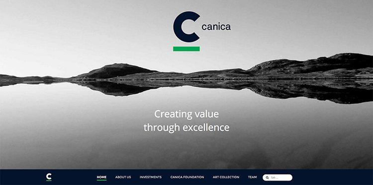 canica web forside designet og utviklet av Oktan Oslo