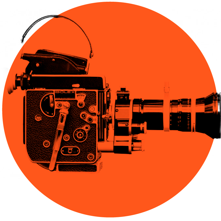Illustrasjonsbilde til film og animasjon gammeldags filmkamera
