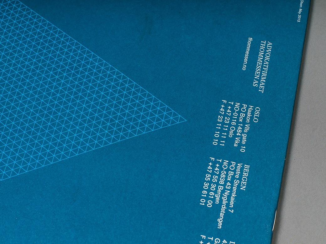 Detalj viser bruk av designelement, her folietrykk