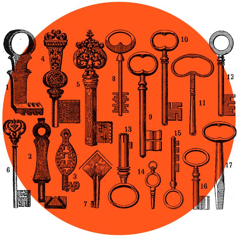 Illustrasjonsbilde til illustrasjon forskjellige nøkler
