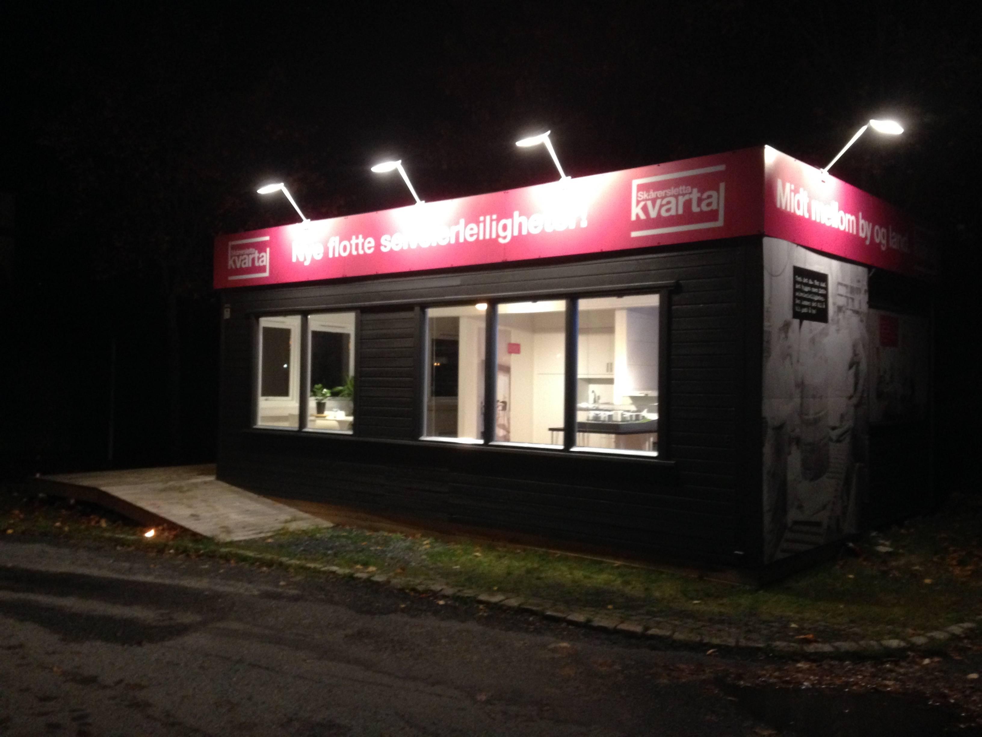 Bilde av visningssenteret by night laget av Oktan Oslo