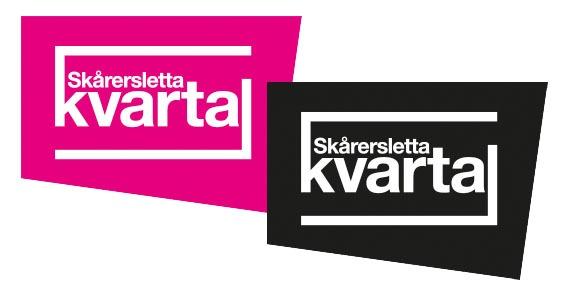 Sort og magentafarget logo til Skårersletta kvartal laget av Oktan Oslo