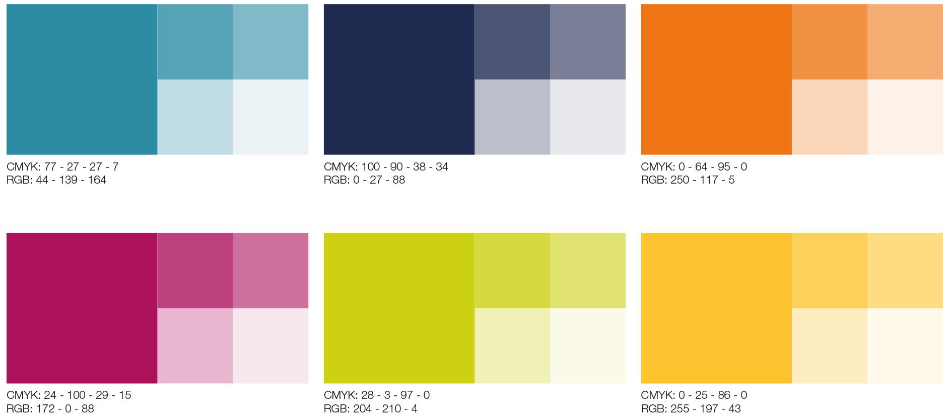 Fargepalett til Fokus laget av Oktan Oslo