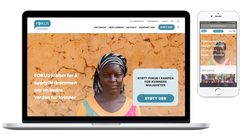 Fokus nettside laget av Oktan Oslo