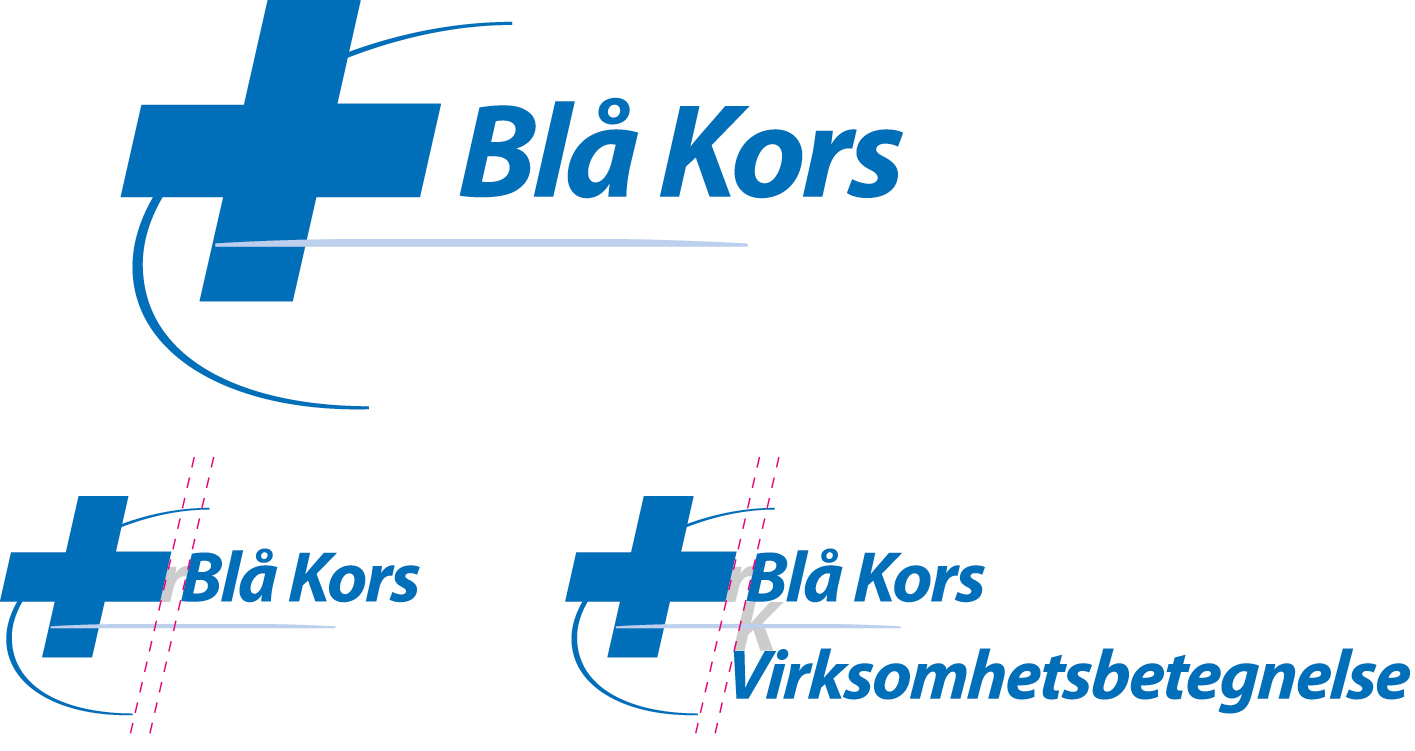 Blå Kors logo laget av Oktan Oslo