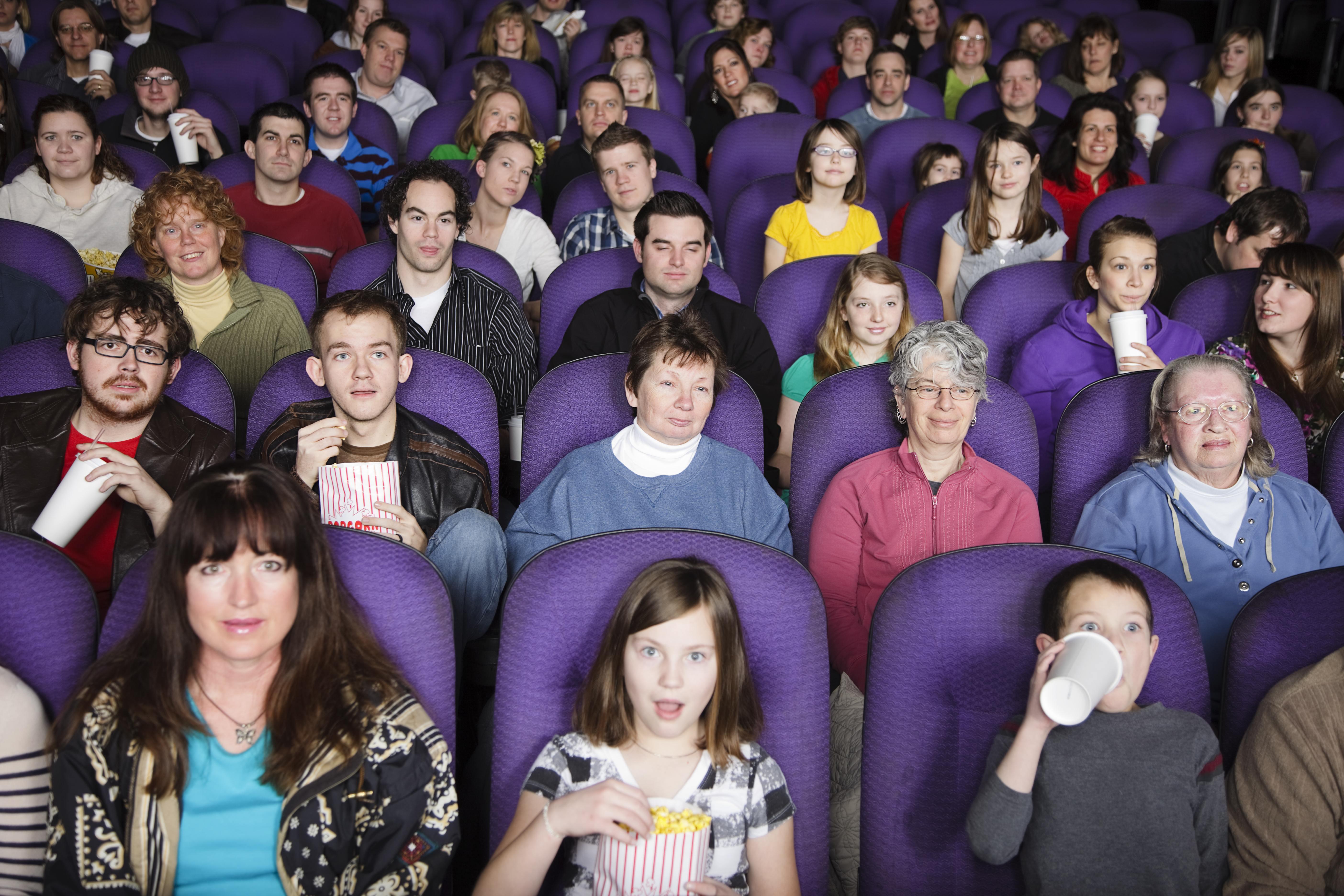 foto av publikum i en kinosal