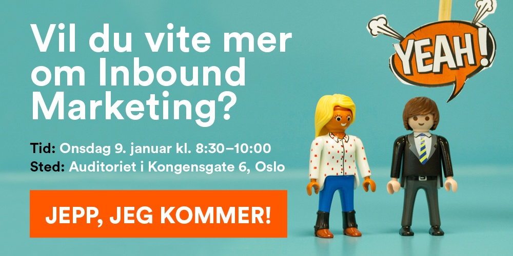 link for å melde på til frokostseminar inbound marketing