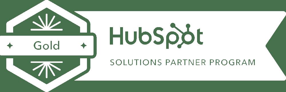 Hubspot Gold Solution Partner badge