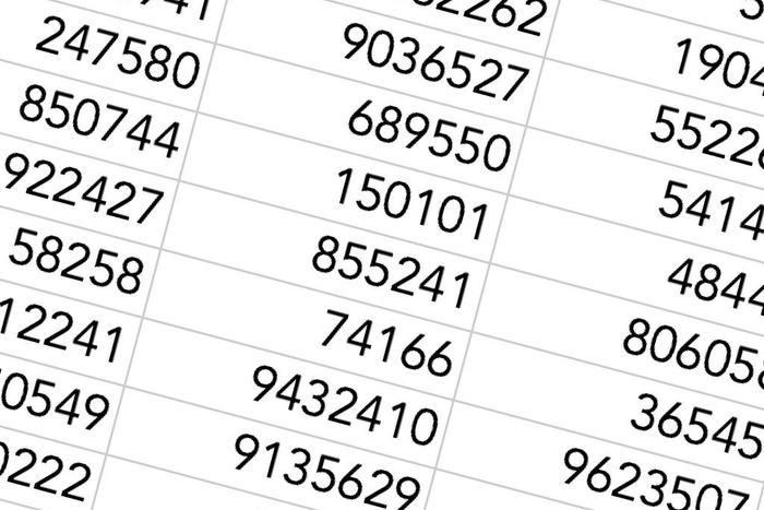 Blendet av tall
